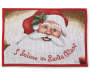 Santa Clause Tapestry Christmas Placemat Overhead Shot Silo Image