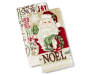 Santa Kitche Towels 2 Pack Stacked and Fanned Silo Image
