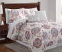 Saundra Rust Blue and Purple Floral 5-Piece King Quilt Set Lifestyle Image