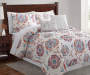 Saundra Rust Blue and Purple Floral 5-Piece Queen Quilt Set Lifestyle Image