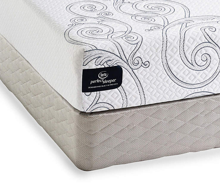 firm box twin spring big pin set and serta arrington mattress lots