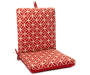 Seville Red Flowers Reversible Outdoor Chair Cushion silo front