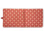 Seville Red Flowers Reversible Outdoor Chair Cushion silo top view