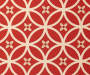 Seville Red Flowers Reversible Outdoor Chair Cushion swatch
