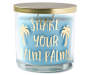 Shake Your Palm Palms Tahiti Beach Jar Candle 14 ounces silo front