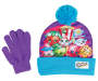 Shopkins Screen Print Hat and Glove Set Silo Pieces Not Touching