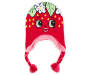 Shopkins Strawberry Kiss Earflap Hat Overhead Shot Silo Image