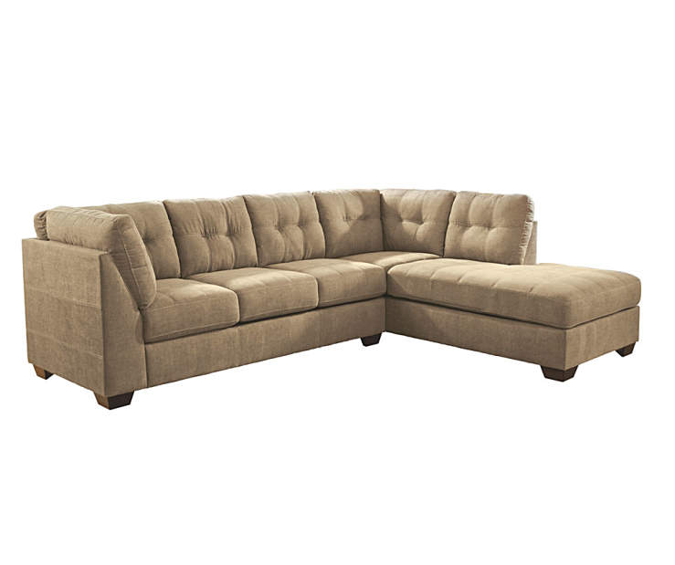Signature design by ashley driskell mocha living room for Ashley mocha sectional with chaise