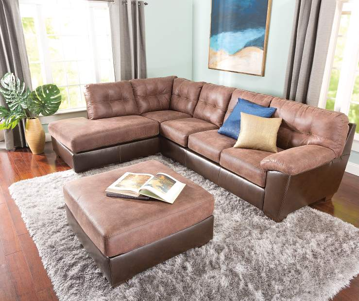 Signature design by ashley storey sectional living room - Simmons living room furniture sets ...