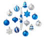 Silver Blue Shatterproof Ornaments 43-Pack Out Of Package Silo