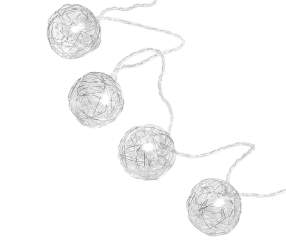Globe String Lights Big Lots : Wilson & Fisher Steel LED Battery Operated Globe Light Set, 20-Count Big Lots