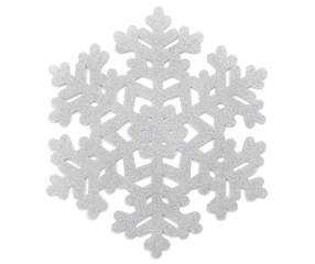 Shimmer Collection Silver Shimmer Snowflake Christmas