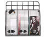 Silver Wire Basket Wall Organizer with Hooks with Items Overhead Shot Silo Image