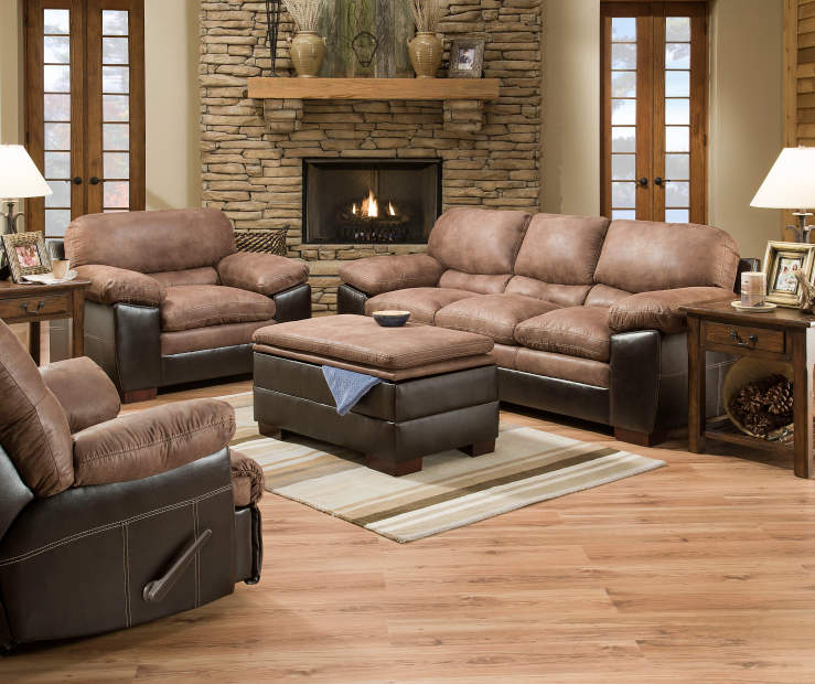 Simmons bandera bingo living room furniture collection for Simmons living room furniture