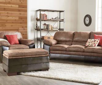 Simmons Verona Chocolate Chenille Living Room Furniture