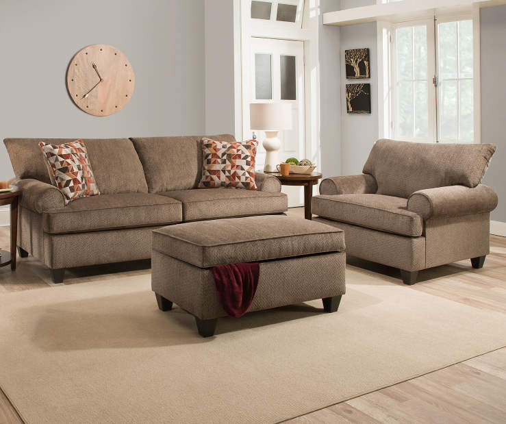 Simmons bellamy living room collection big lots for Front room furniture sets