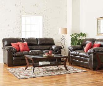 Simmons verona chocolate chenille living room furniture for What is a small couch called