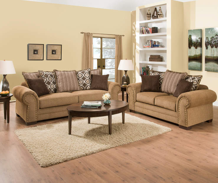 Living Room Low Furniture: Simmons Lorenzo Teak Scatter Back Living Room Furniture