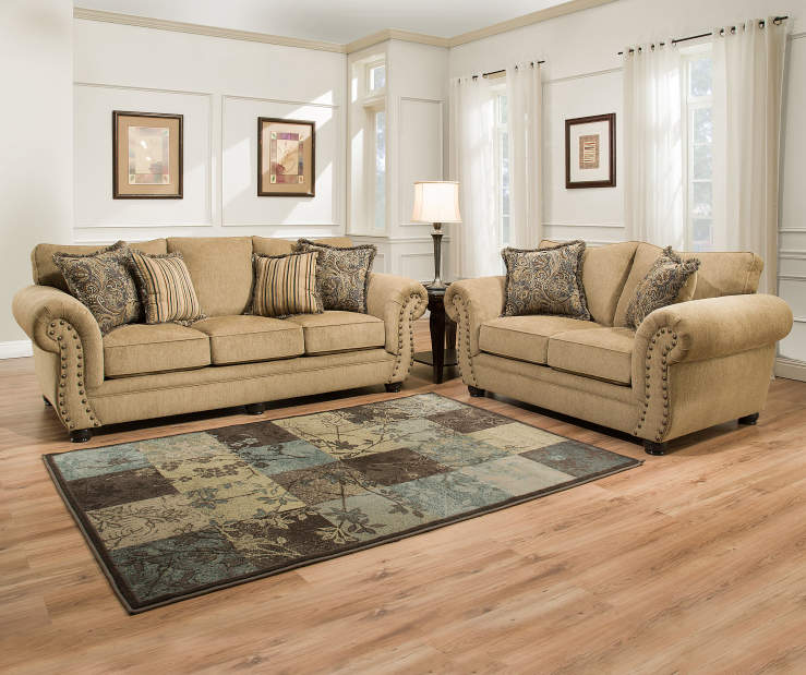 Simmons morgan living room collection big lots for Living room sets