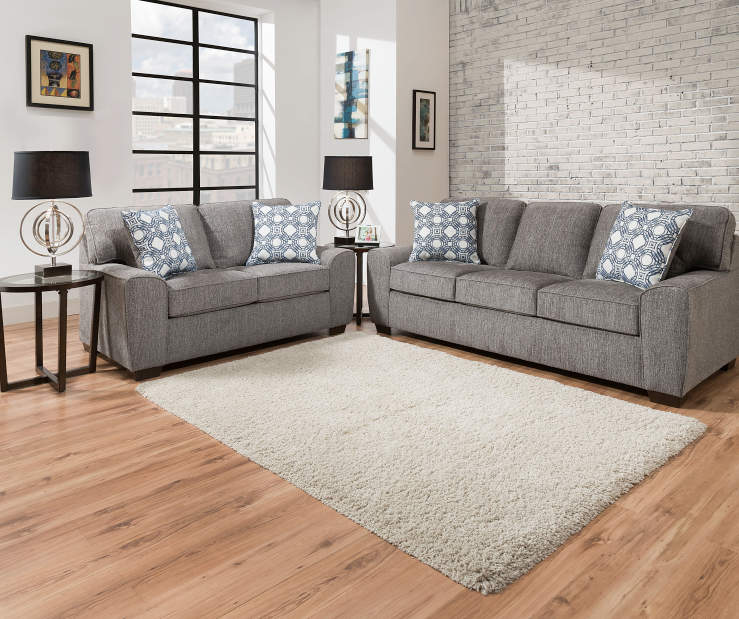 Ashley Furniture Redding Ca: Simmons Redding Gray Living Room Collection