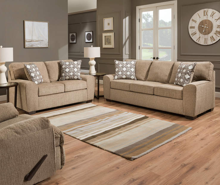 40 Grey Living Rooms That Help Your Lounge Look: Simmons Redding Tan Living Room Collection