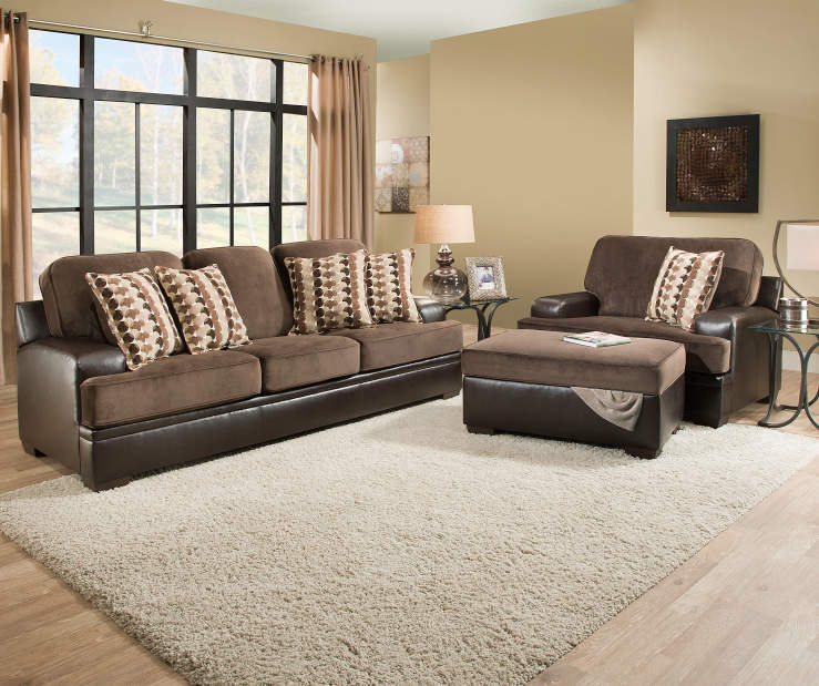 Simmons trevor living room collection big lots for Large living room chairs