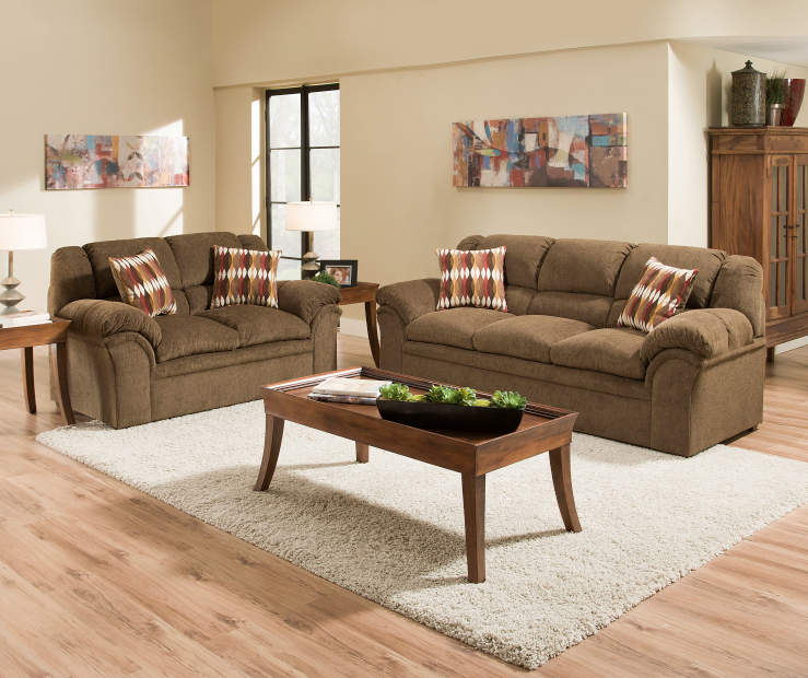 verona chocolate chenille living room furniture collection big lots