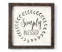 Simply Blessed Wooden Wall Plaque Silo