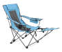 Sky Blue Quad Chair with Footrest Side View