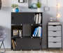 Small Black Stackable Modular Cube Shelf lifestyle bedroom