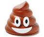 Smiling Poop Emoji Bluetooth Speaker Front View Silo Image
