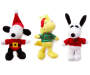 Snoopy Spike and Woodstock Pet Toy Squeakers 3 Pack silo
