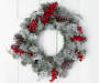 Snow Wreath with Pinecones and Berries 24 Inches Overhead on Door Silo Image
