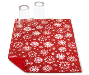 Snowflake Christmas Reversible Dish Drying Mat Big Lots
