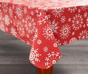 Snowflake Christmas Vinyl Tablecloth 52 Quot X 52 Quot Big Lots
