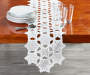 Snowflake Embroidered Table Runner 70 Inches by 13 Inches on Table Lifestyle Image