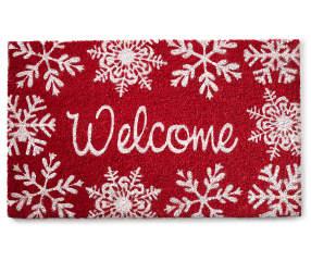 Snowflake Welcome Christmas Coir Doormat Big Lots