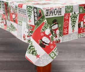 Snowman Sentiment Vinyl Christmas Tablecloth 52 Quot X 52