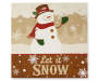 Snowman Tabletop Plaque Overhead Shot Silo