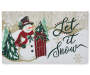 Snowman and Sled Rubber Outdoor Doormat  Silo Image