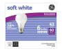 Soft White 43-Watt Energy Efficient Light Bulbs, 6-Pack in package