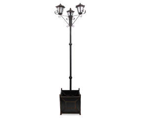 Wilson Amp Fisher Solar Light Post With Planter Base Big Lots