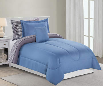 Bedding For The Home Big Lots - Blue and grey comforter sets