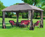 South Hampton Gazebo Replacement Curtain 10 Feet by 12 Feet Outdoor Setting Lifestyle Image