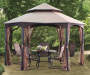 Southbay Hexagon Gazebo Replacement Nosquito Netting 11 Feet by 11 Feet Outdoor Setting Lifestyle Image