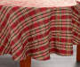 Sparkle Plaid Round Christmas Tablecloth 60 Inches on Round Table