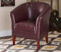 Spencer Blackberry Club Chair lifestyle