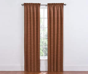 Sundown Spice Dewey Thermal Curtain Panel Pair 84