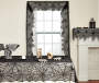 Spiderweb Lace Cloths 3-Piece Set Lifestyle Image On Window, Mantel and Table