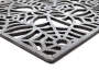 Spiderweb Sculpted Rubber Doormat Angled Pile Shot Close Up Detail Silo Image